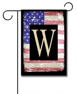 Faded USA Flag- Monogram Garden Flag- 12.5'' x 18''