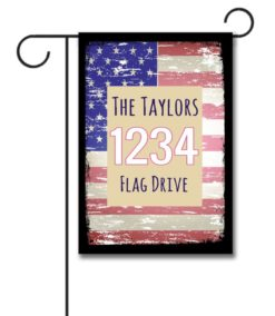 Faded USA Flag- Address Garden Flag- 12.5'' x 18''