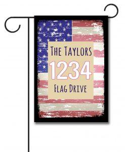 Faded USA Flag- Address Garden Flag- 12.5'' x 18''