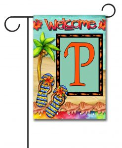 Flip Flop Welcome  - Monogram Garden Flag - 12.5'' x 18''