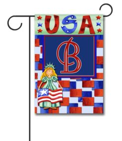 Miss Liberty USA- Monogram Garden Flag- 12.5'' x 18''