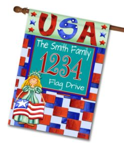 Miss Liberty USA - Address House Flag - 28'' x 40''