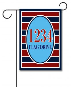 Patriotic Stripes I- Address Garden Flag- 12.5'' x 18''
