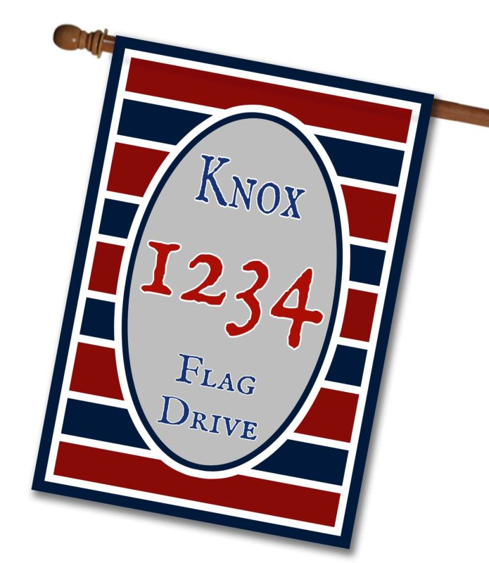 Patriotic Stripes I - Address House Flag - 28'' x 40''