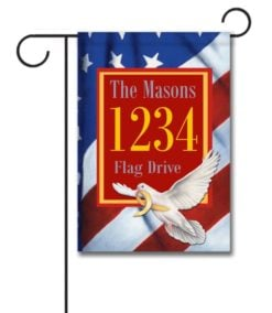 Peace Dove - Address Garden Flag- 12.5'' x 18''