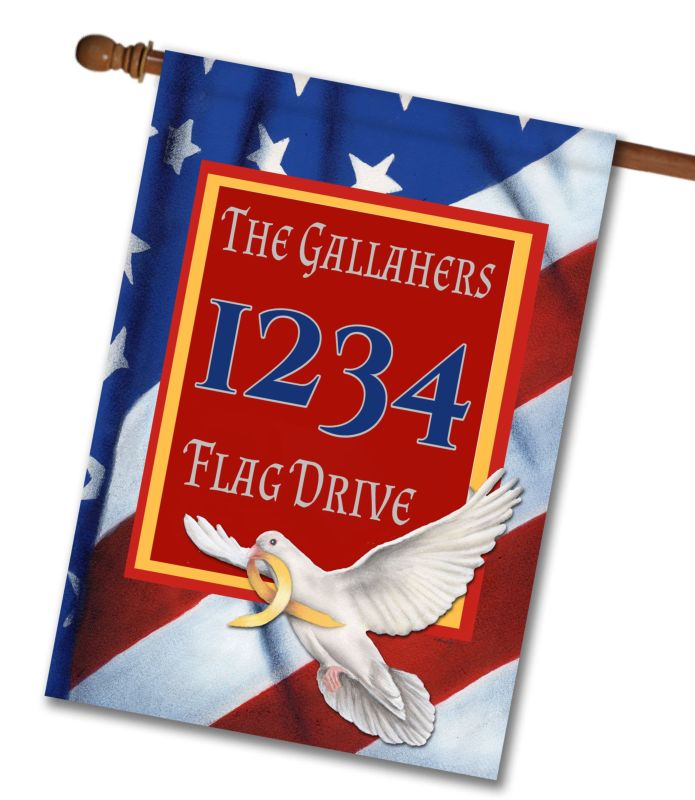 Peace Dove  - Address House Flag - 28'' x 40''
