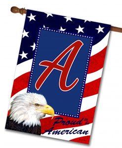 Proud American Eagle - Monogram House Flag - 28'' x 40''