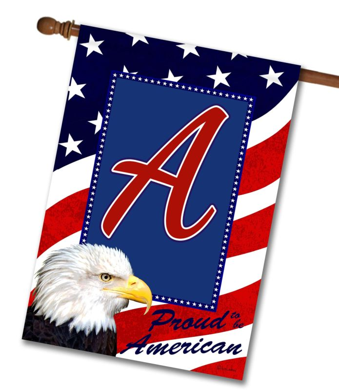 Proud American Eagle - Monogram House Flag - 28'' x 40''