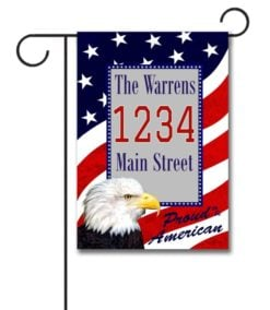 Proud American Eagle- Address Garden Flag- 12.5'' x 18''