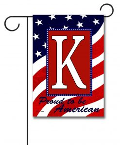 Proud to be American- Monogram Garden Flag- 12.5'' x 18''