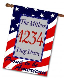 Proud to be American - Address House Flag - 28'' x 40''