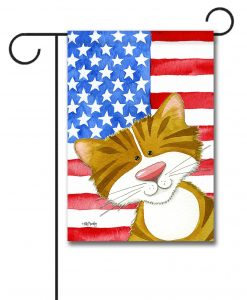 Purrfectly Patriotic- Garden Flag - 12.5'' x 18''
