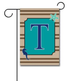 Sea Life  - Monogram Garden Flag - 12.5'' x 18''