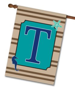 Sea Life  - Monogram House Flag - 28'' x 40''