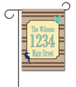Sea Life  - Address Garden Flag - 12.5'' x 18''