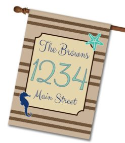 Sea Life  - Address House Flag - 28'' x 40''