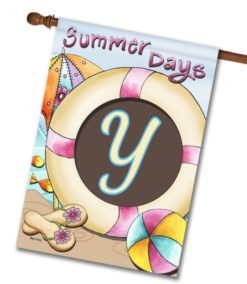 Summer Days  - Monogram House Flag - 28'' x 40''