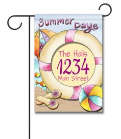 Summer Days  - Address Garden Flag - 12.5'' x 18''