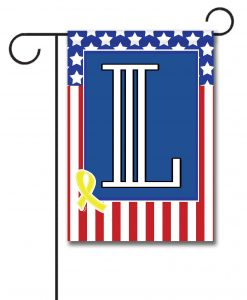 USA Yellow Ribbon- Monogram Garden Flag- 12.5'' x 18''