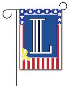USA Yellow Ribbon- Monogram Garden Flag- 12.5'' x 18''