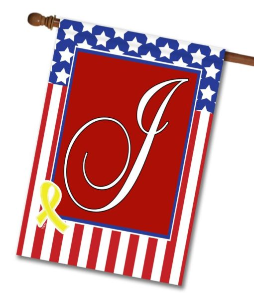 USA Yellow Ribbon - Monogram House Flag - 28'' x 40''