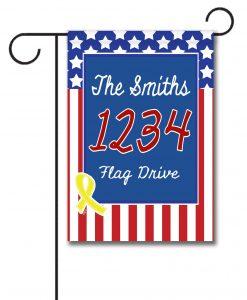USA Yellow Ribbon- Address Garden Flag- 12.5'' x 18''