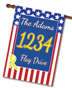 USA Yellow Ribbon - Address House Flag - 28'' x 40''