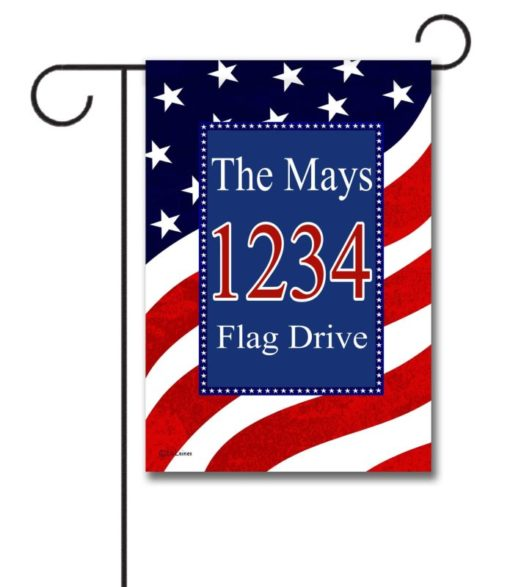 Waving Flag- Address Garden Flag- 12.5'' x 18''