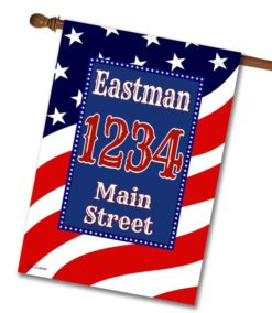 Waving Flag - Address House Flag - 28'' x 40''