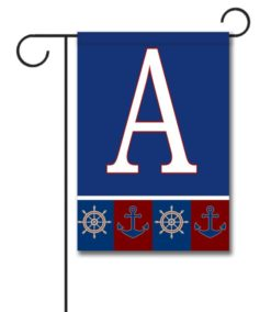 Welcome Aboard - Monogram Garden Flag - 12.5'' x 18''