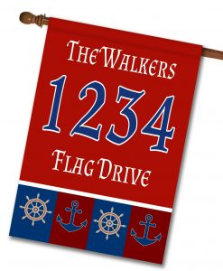 Welcome Aboard - Address Garden Flag - 12.5'' x 18''