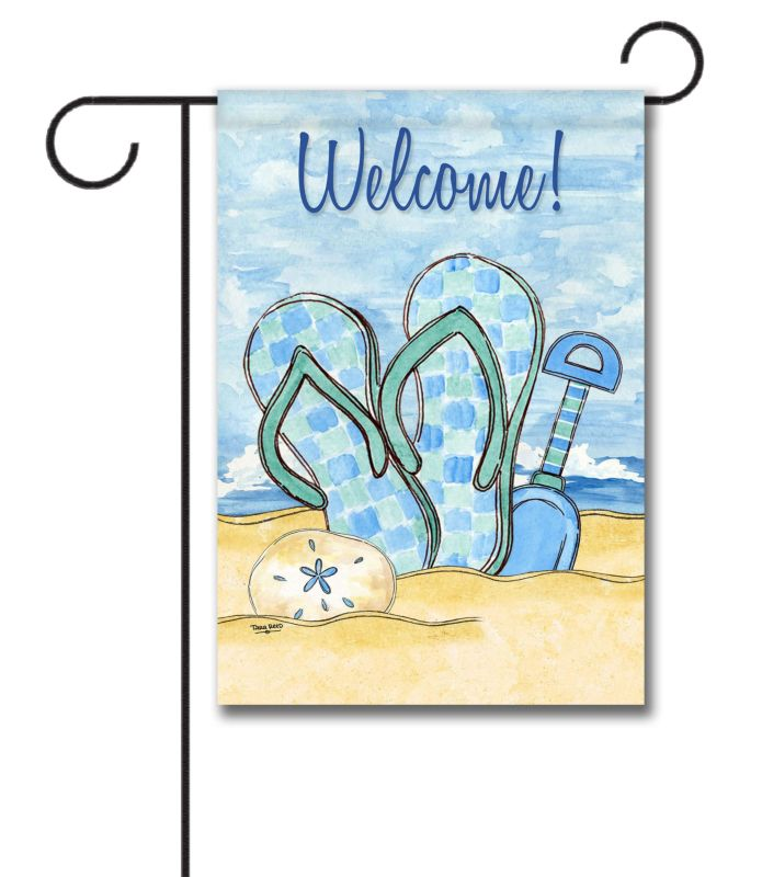 Good Welcome Beach  Garden Flag U2013 12