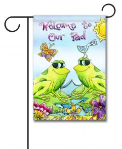 Welcome to Our Pad- Garden Flag - 12.5'' x 18''