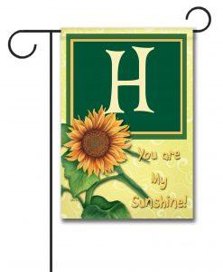 You Are My Sunshine - Monogram Garden Flag - 12.5'' x 18''