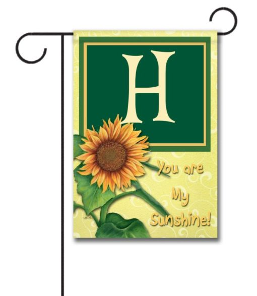 You Are My Sunshine - Monogram Garden Flag - 12.5'' x 18''