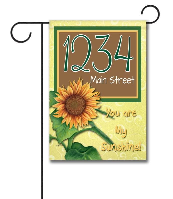 "You Are My Sunshine  - Address House Flag 28""x40"""