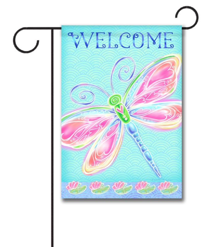 Colorful Dragonfly Spring Welcome Garden Flag