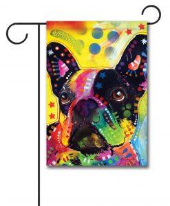 Abstract French Bulldog U2013 Garden Flag U2013 12.5u201d X 18u201d