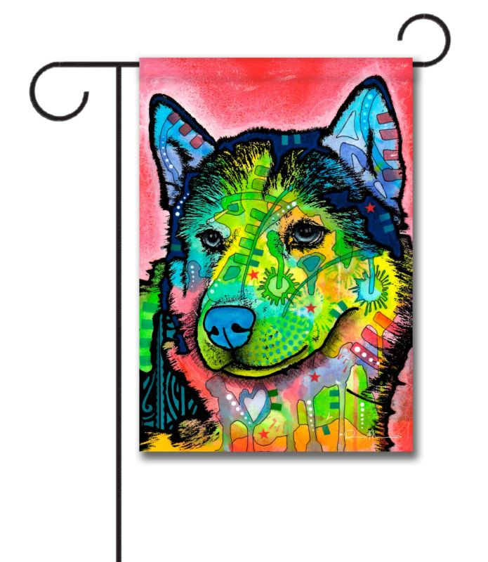 Abstract Husky Garden Flag 12 5 X 18