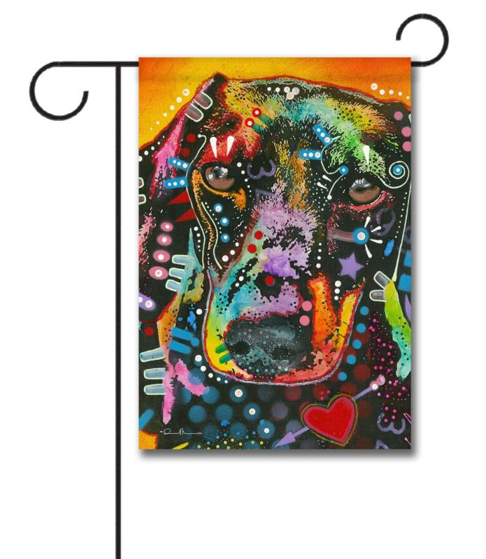 Dean Russo Brilliant Doxie Garden Flag