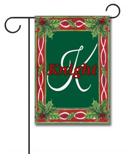 Christmas Holly Family Garden Flag