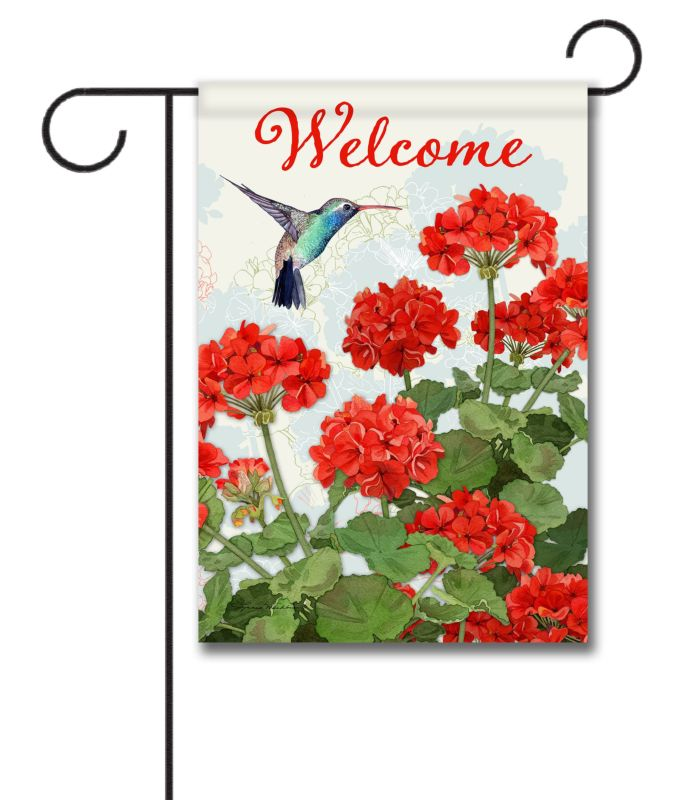Hummingbird Welcome Garden Flag 12 5 X 18 Custom