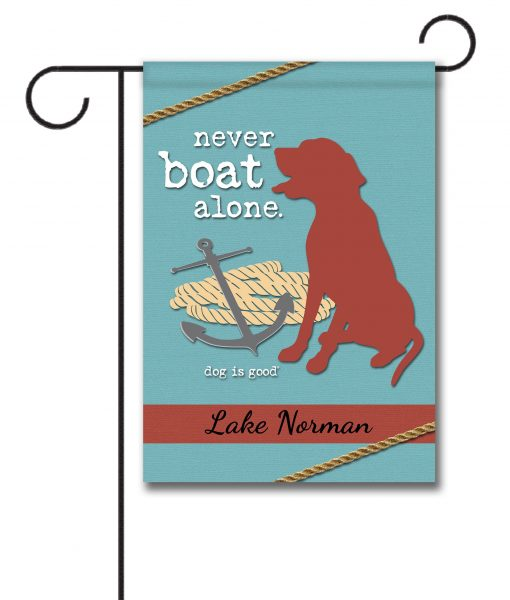 Never Boat Alone Personalized Garden Flag