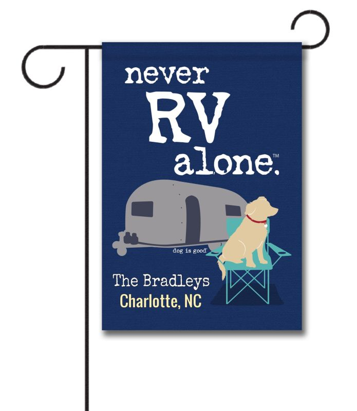 personalized never rv alone - garden flag - 12 5 u0026 39  u0026 39  x 18 u0026 39  u0026 39