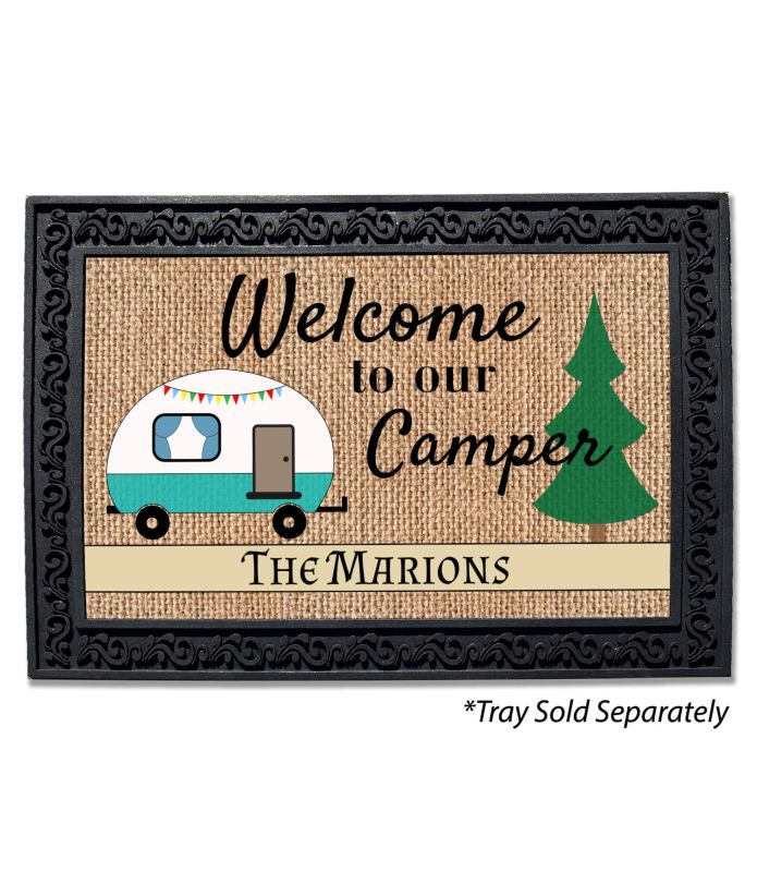 diy easy with mat how door initial life lovelyluckylife esay com doormat lovely custom personalized copy to lucky welcome