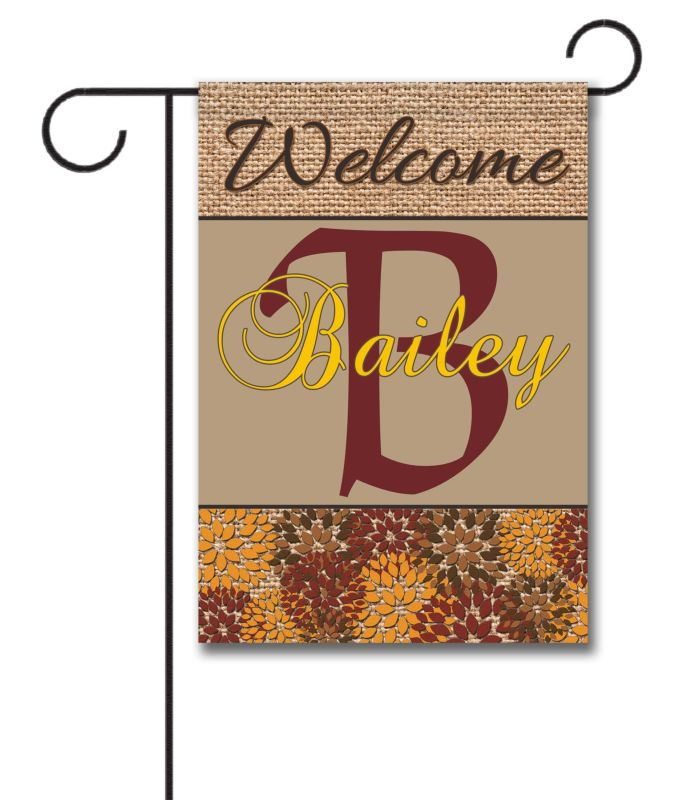 Welcome Fall Family Garden Flag