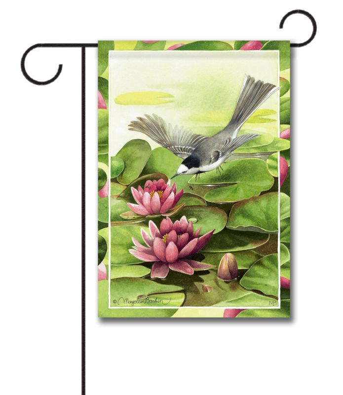 Water Lily Visit Garden Flag 125 X 18 Custom Printed