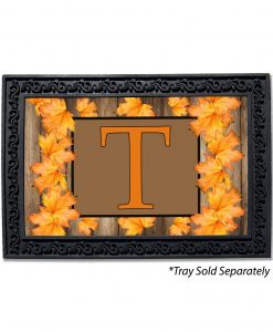 Fall Leaves Monogram Doormat
