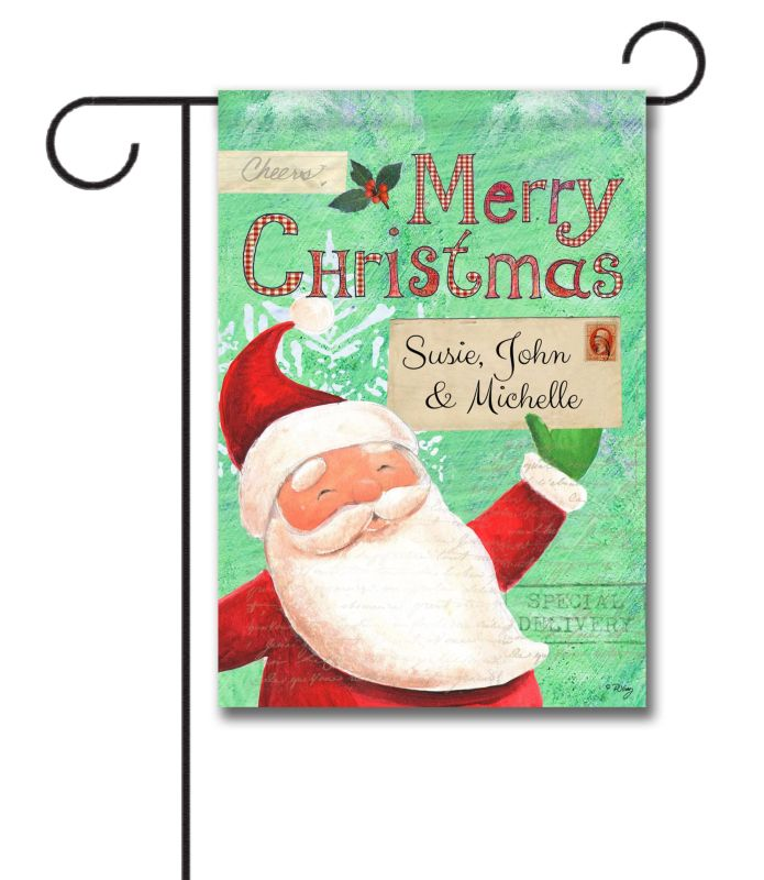 Personalized Special Delivery Santa Garden Flag 12 5