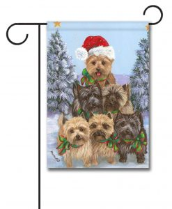 Christmas Tree Cairn Terrier Garden Flag